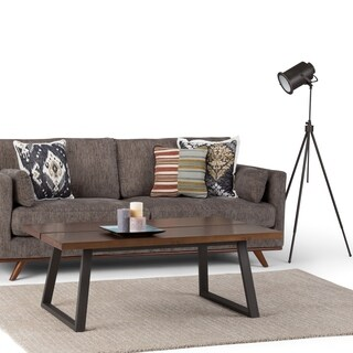 WYNDENHALL Tyson Modern Industrial Solid Wood & Metal Coffee Table
