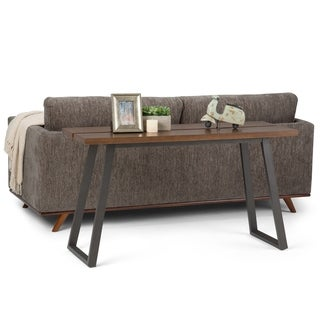 WYNDENHALL Tyson Modern Industrial Solid Wood & Metal Console Sofa Table