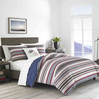 Eddie Bauer Brewster Stripe Duvet Cover Set