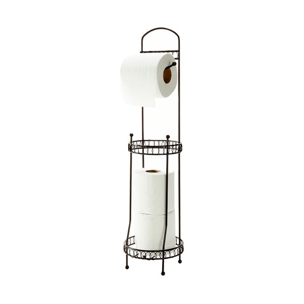 Bath Bliss Curls Design Toilet Tissue Dispenser and Holder in Oil Rubbed Bronze