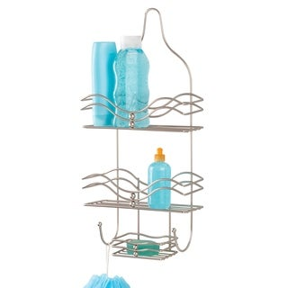 Bath Bliss Ocean Design Shower Caddy in Satin Nickel