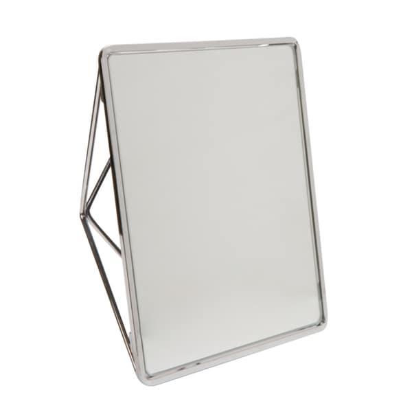 """Geometric Two Way Vanity Mirror 9.37x 7.4 x2.95""""- CHROME"""