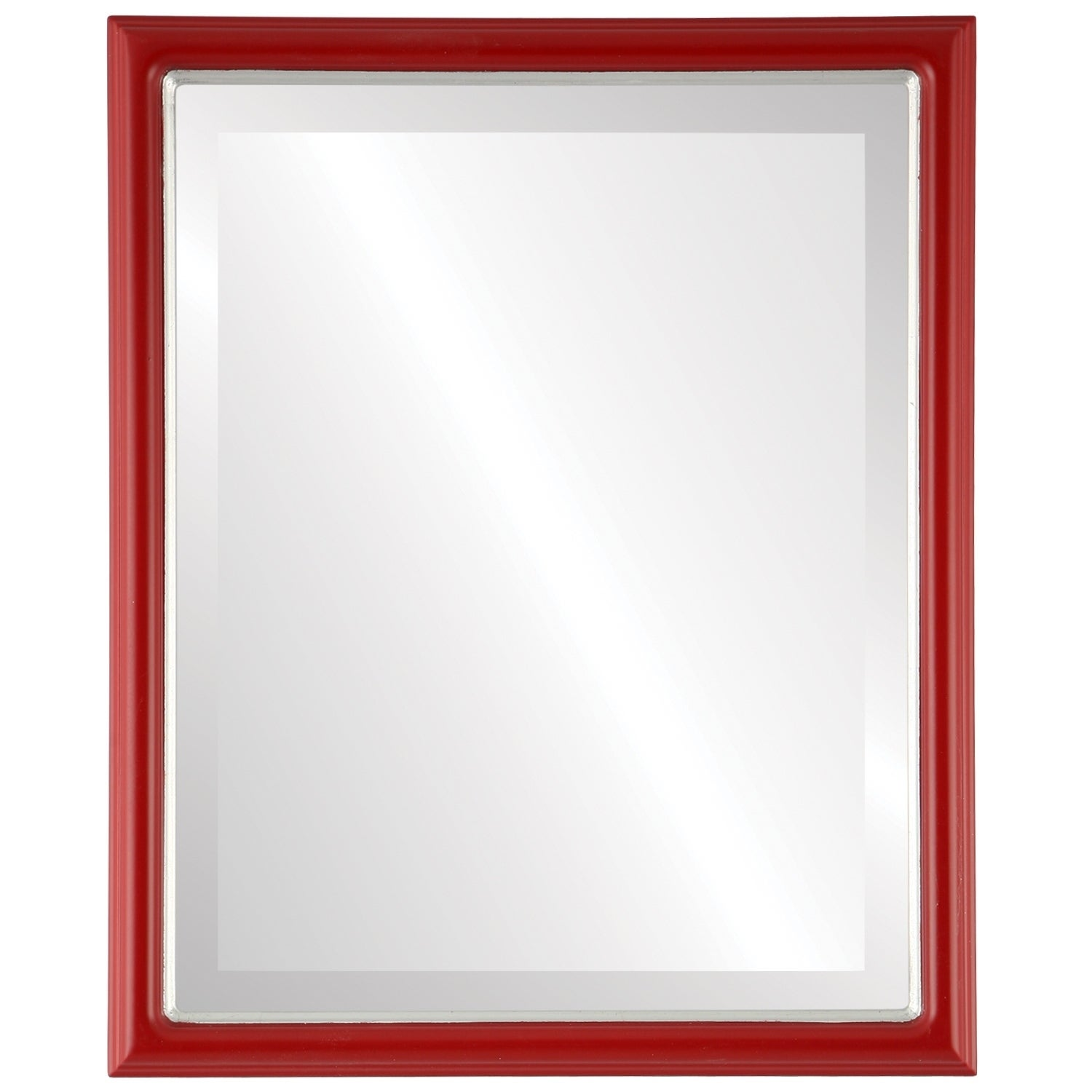 Hamilton Framed Rectangle Mirror in Holiday Red  Lip (17x21)