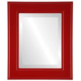 Montreal Framed Rectangle Mirror in Holiday Red
