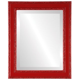 Monticello Framed Rectangle Mirror in Holiday Red