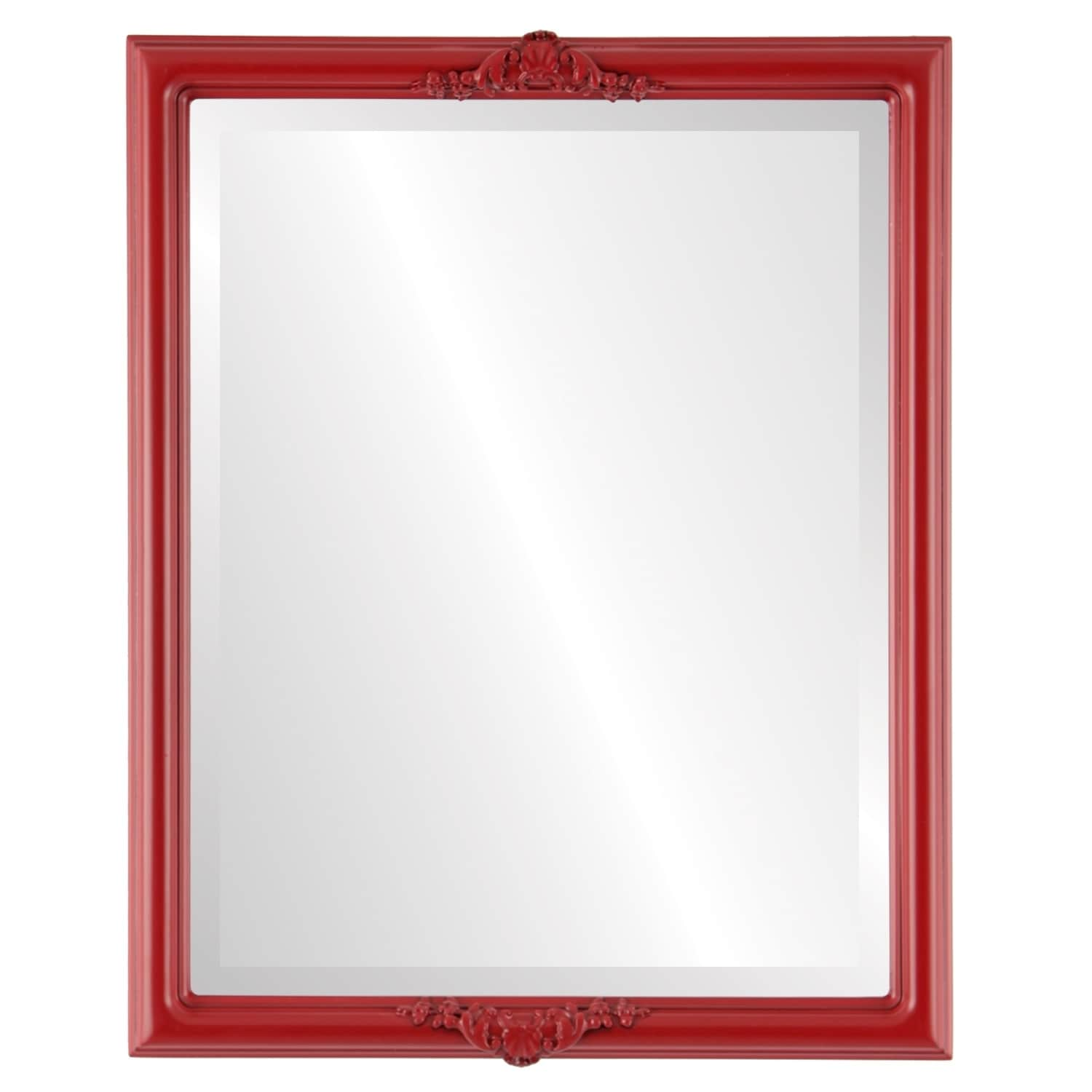Contessa Framed Rectangle Mirror in Holiday Red (19x25)