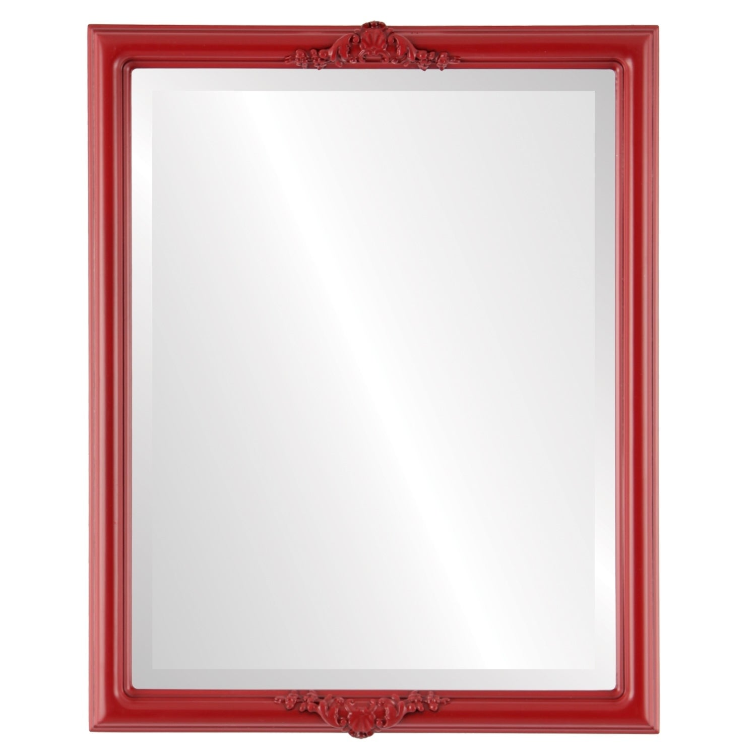 Contessa Framed Rectangle Mirror in Holiday Red (21x25)