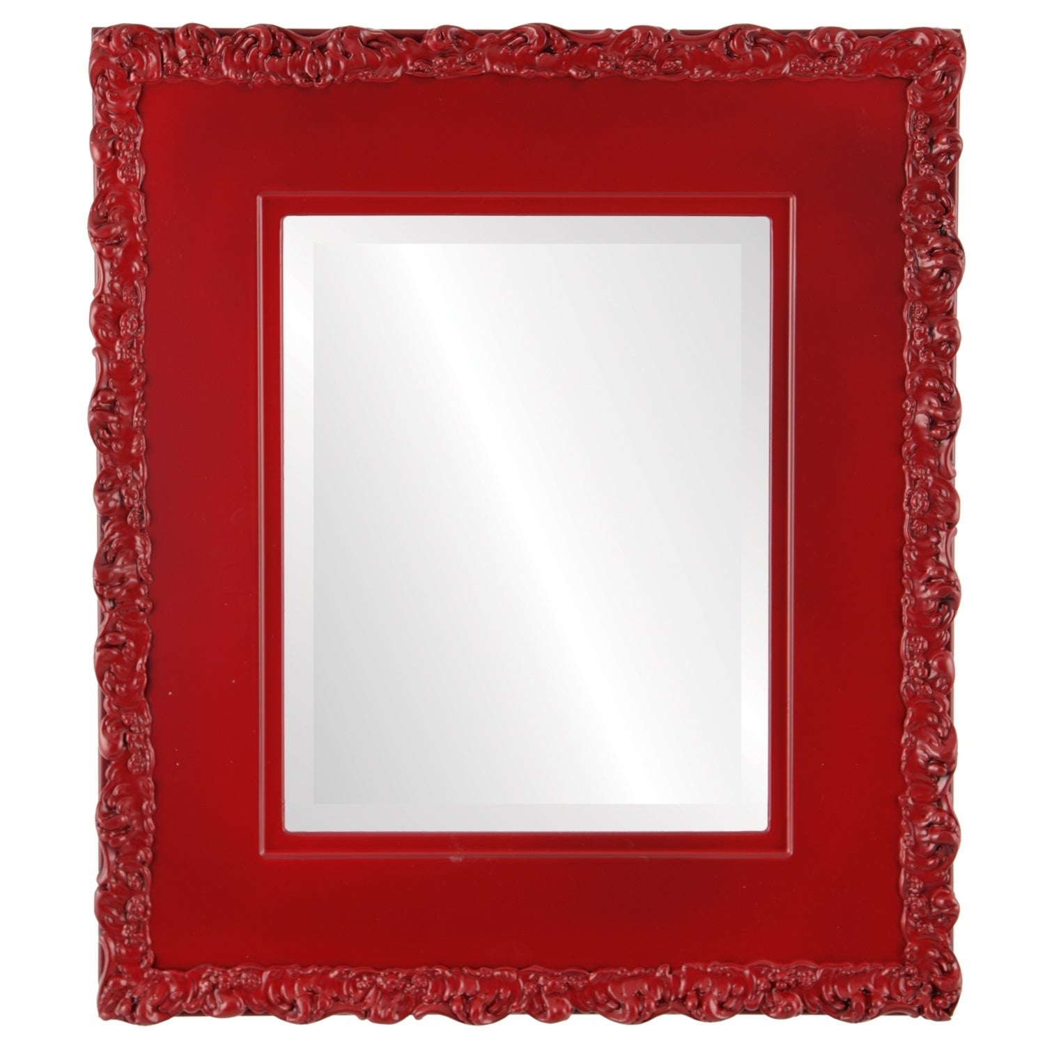 Williamsburg Framed Rectangle Mirror in Holiday Red (19x23 - Medium (15-32 high))