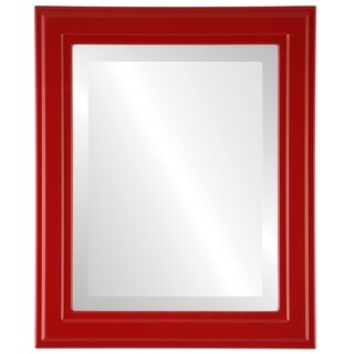 Wright Framed Rectangle Mirror in Holiday Red