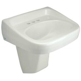 Zurn Z5340 Wall Mount Vitreous China Bathroom Sink Z5340-PED