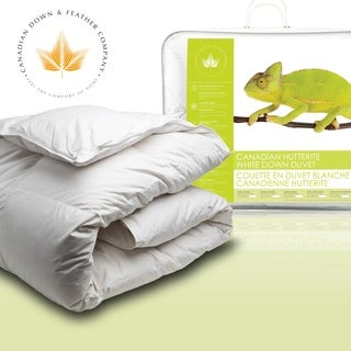 Canadian Down & Feather All Season Weight Hutterite White Down Comforter