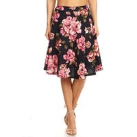 Women's Floral Pattern Skirt