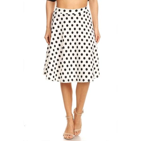 Shop Women S Polka Dot Pattern Skirt On Sale Free