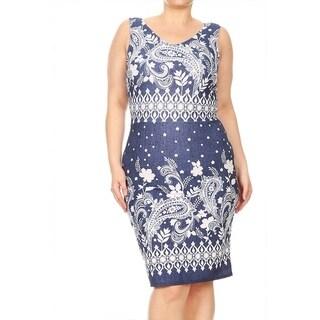 Women's Plus Size Paisley Floral Dress