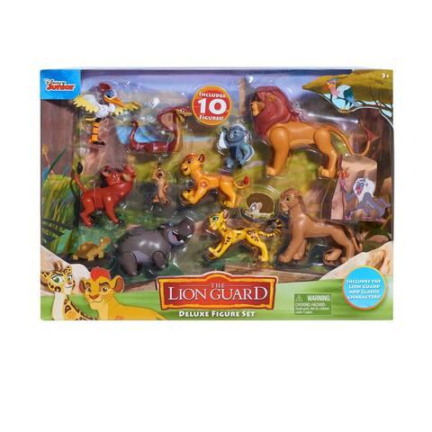 Disney Lion Guard Deluxe 10 Piece Figure Set - Includes Lion Guard & Classic Figures