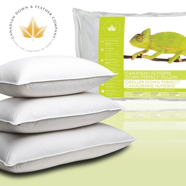 Canadian Down Feather Company Hutterite Perfect Pillow White