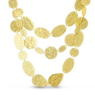 Passiana Gold Tone Floating Disc Necklace, 30 Inches