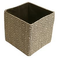 "7"" Collapsible Tote, Black Concentric Squares"