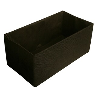 """Double 6"""" Collapsible Tote, Black Canvas"""