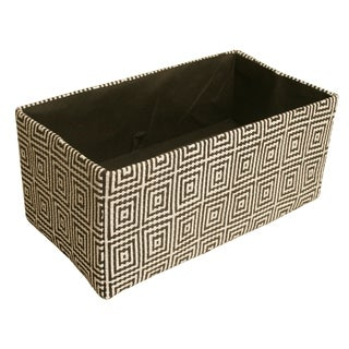 """Double 6"""" Collapsible Tote, Black Concentric Squares"""