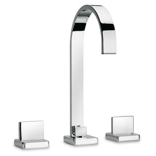 Handmade Widespread lavatory faucet with lever handles