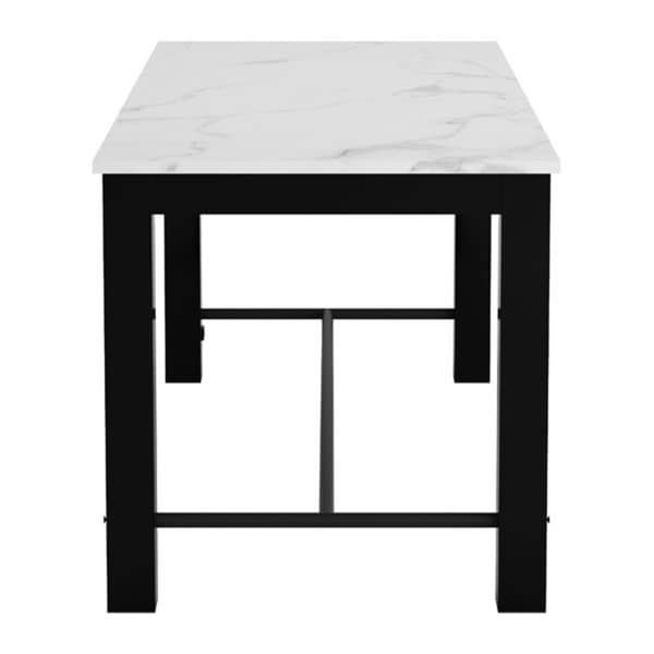Dawson Dining Table Faux Marble And Matt Black Stone