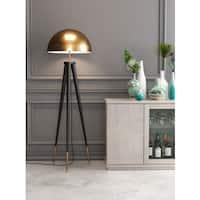 Mascot Floor Lamp Brass & Black