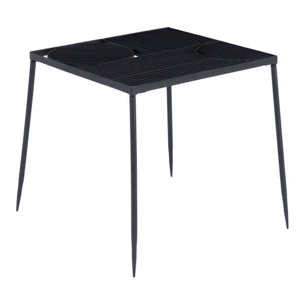 Carbon Loft Hempstead Black Steel End Table