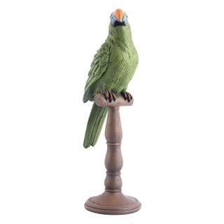Porch & Den Green Parrot Figurine