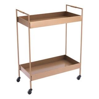 Goldtone Steel Bar Cart