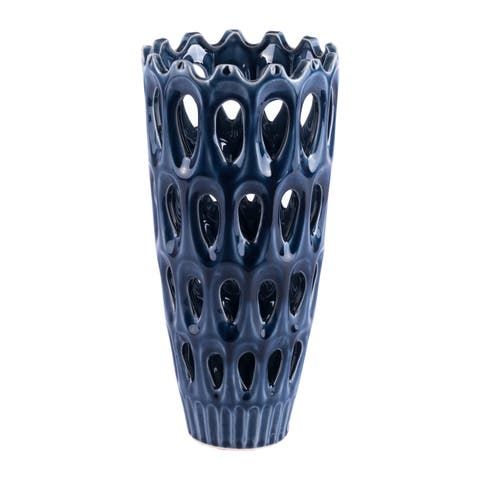 Porch & Den Maiden Medium Blue Vase