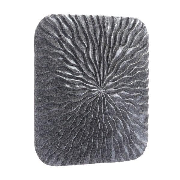 Porch & Den Mareno Small Dark Grey Stone Square Wave Plaque