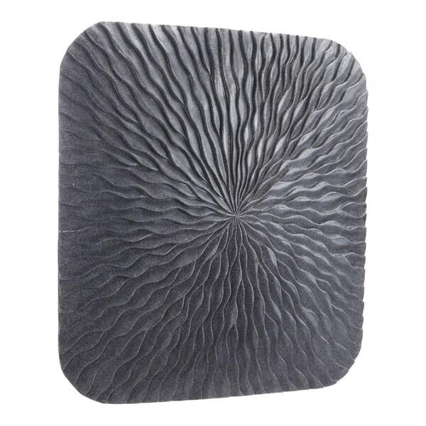 Porch & Den Mareno Large Dark Grey Stone Square Wave Plaque - N/A