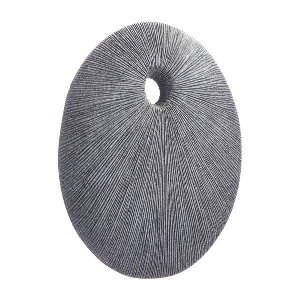 Porch & Den Latona Small Dark Grey Stone Round Eye and Ray Plaque