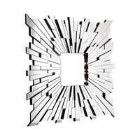 Fiery Square Accent Mirror