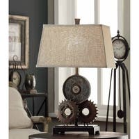 Gears Antique Metal 29-inch Table Lamp