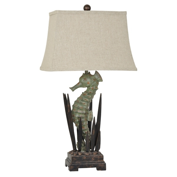 Seahorse Antique Green 30.5-inch Table Lamp