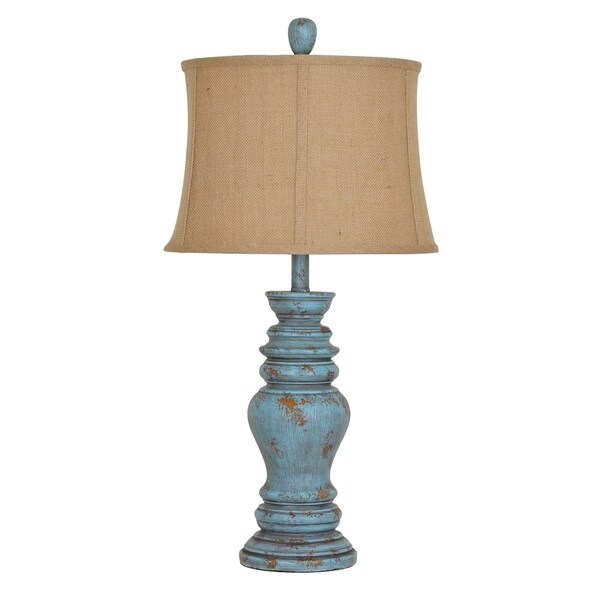 Barclay Antique Turquoise 30 Inch Table Lamp