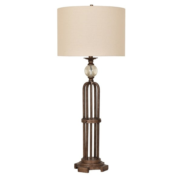 Shop Espinoza Bronze 39 5 Inch Lead Crystal Orb Table Lamp Free