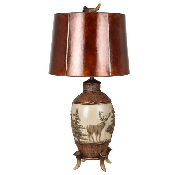 Deer Run Antique Bronze 32.5-inch Table Lamp