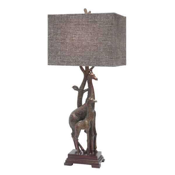 Giraffe Bronze 32.5-inch Table Lamp