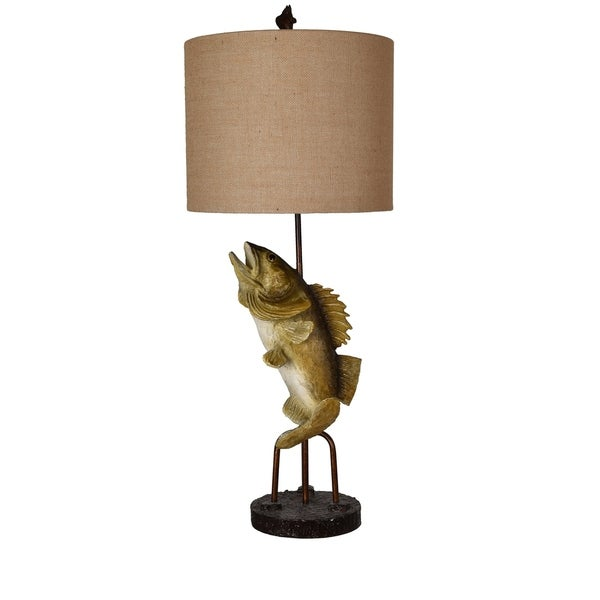Fly Fish Bronze 39-inch Table Lamp