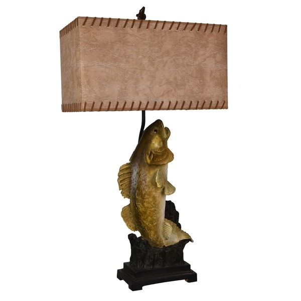 Walleye Bronze 37.5-inch Table Lamp