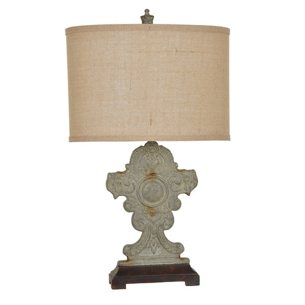 Rowsell Antique Galvanized Tin 28-inch Table Lamp