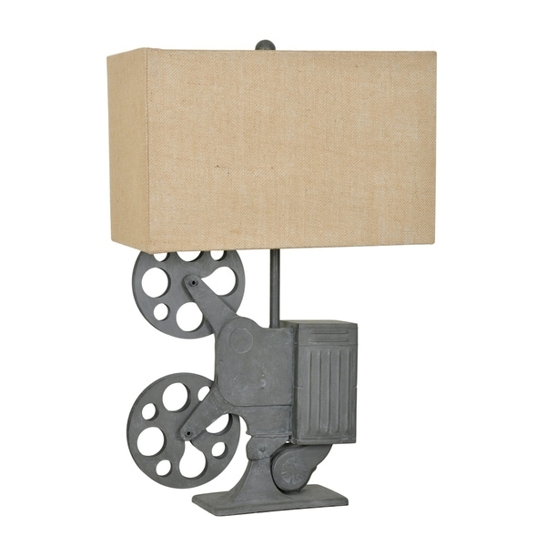 Movie Time Grey 27.5-inch Table Lamp