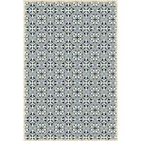 Quad European Design -  Blue & White Color