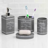 Paris 4 Piece Bath Accessory Set (Grey)