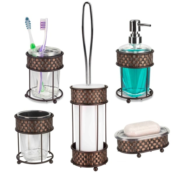 Shop Weave 5-Piece Bath Accessory Set - On Sale - Free ...
