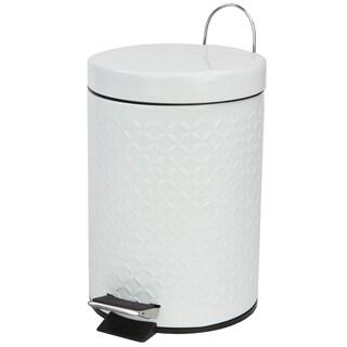 Embossed 3 Liter Waste Bin (White)