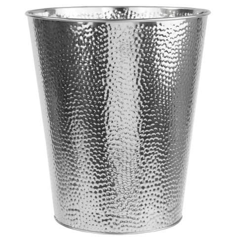 Hammered 6 Liter Waste Bin (Chrome)